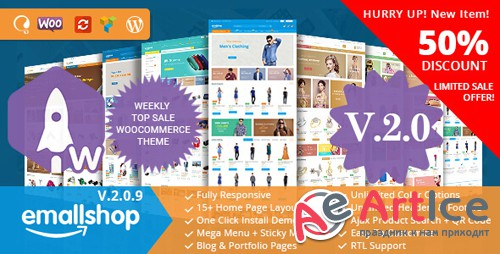 ThemeForest - EmallShop v2.0.9 - Responsive Multipurpose WooCommerce Theme - 18513022 - NULLED