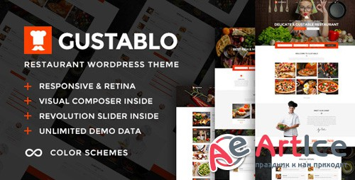 ThemeForest - Gustablo v1.0 - Restaurant & Cafe Responsive WordPress Theme - 21622075
