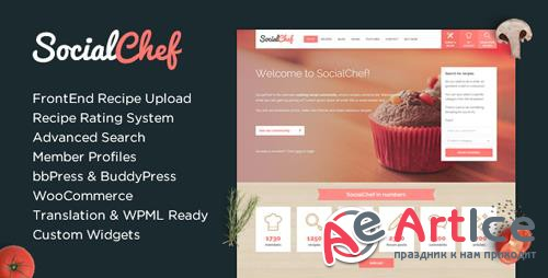 ThemeForest - SocialChef v1.31.1 - Social Recipe WordPress Theme - 6786673