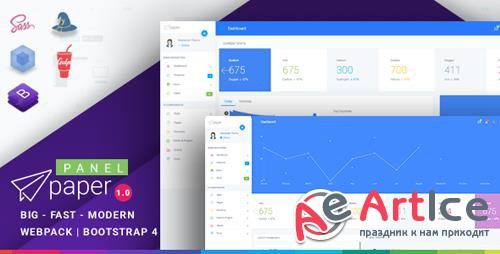 ThemeForest - Paper v1.0.1 - Bootstrap 4 Admin Template - 21985348