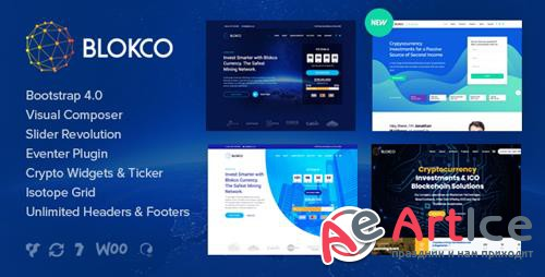 ThemeForest - Blokco v1.4.1 - ICO, Cryptocurrency & Consulting Business WordPress Theme - 21849278