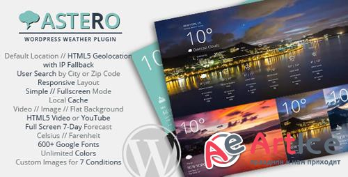 CodeCanyon - Astero WordPress Weather Plugin v1.4.2 - 9473087