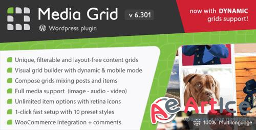 CodeCanyon - Media Grid v6.301 - Wordpress Responsive Portfolio - 2218545