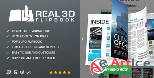 CodeCanyon - Real3D FlipBook v3.4.13 - WordPress Plugin - 6942587