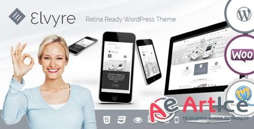 ThemeForest - Elvyre v1.9.1 - Retina Ready Wordpress Theme - 7966500