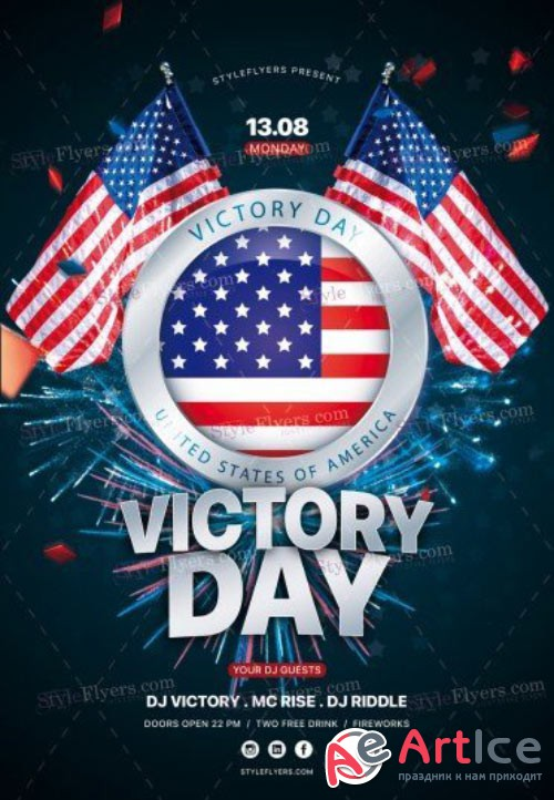 Victory Day V19 2018 PSD Flyer Template