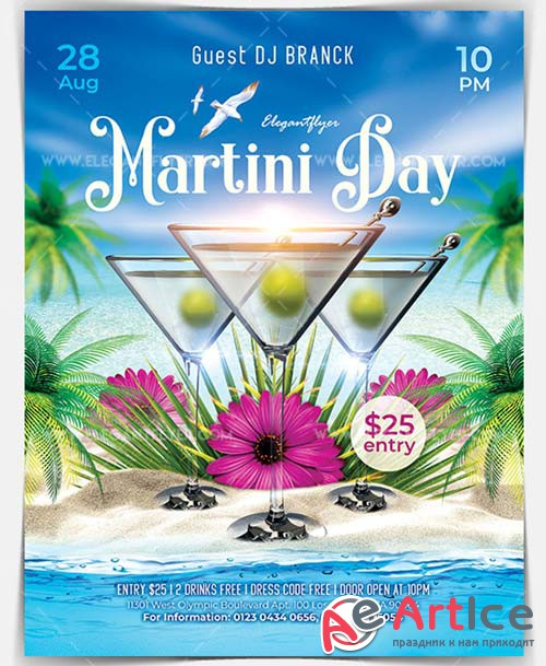 Martini Day V4 2018 Flyer PSD Template
