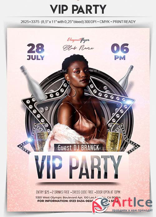 VIP Party V10 2018 Flyer PSD Template