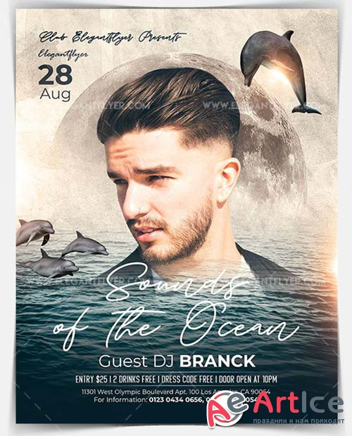 Sounds of the Ocean V1 2018 Flyer PSD Template