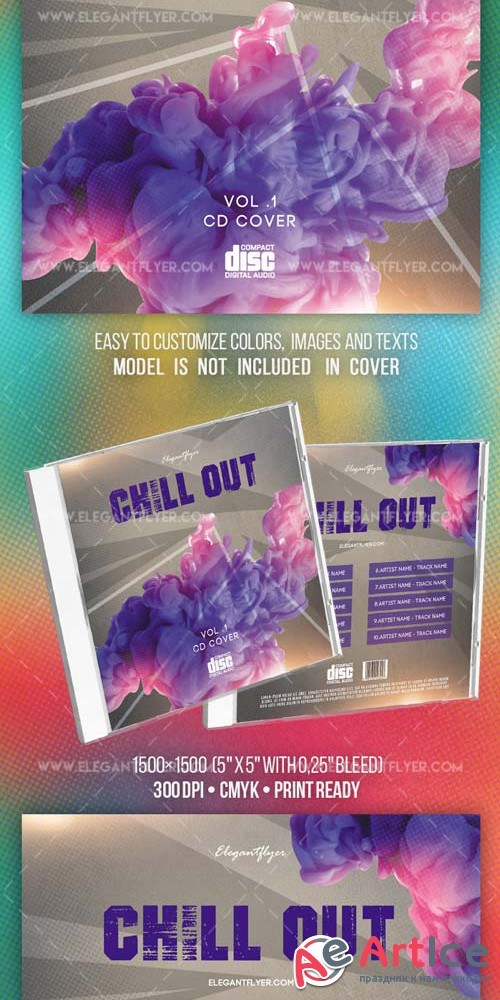 Chill Out V3 2018 Premium CD Cover PSD Template