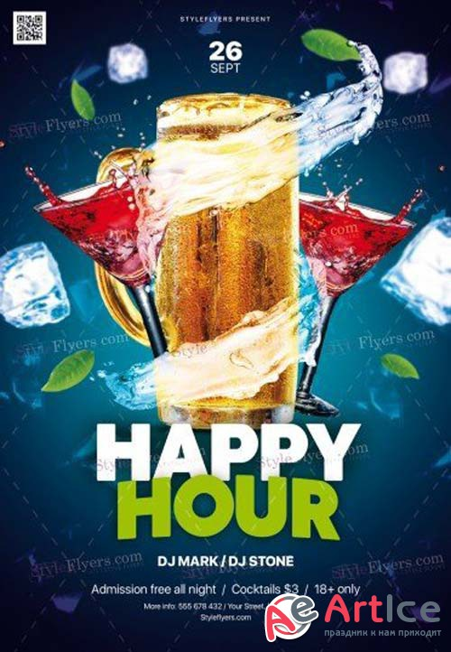 Happy Hour V11 2018 PSD Flyer Template