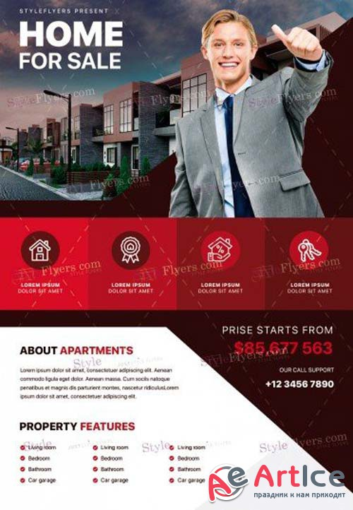 Real Estate V39 2018 PSD Flyer Template
