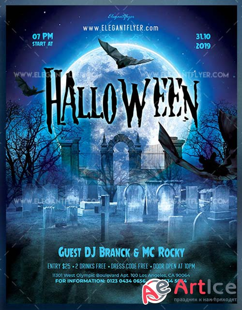 Halloween V11 2018 Flyer PSD Template