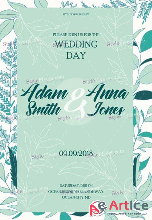 Wedding Day V44 2018 PSD Flyer Template