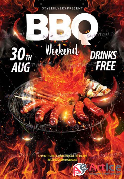 BBQ Weekend V14 2018 PSD Flyer Template