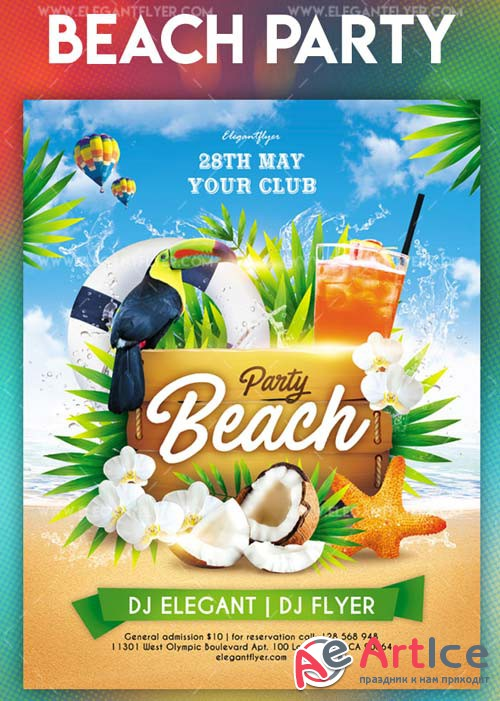 Beach Party V41 2018 Flyer PSD Template