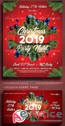 Christmas Party V1 2019 Flyer PSD Template
