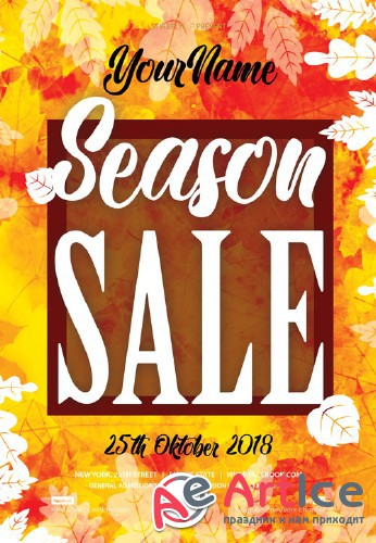 Season Sale V7 2018 PSD Flyer Template