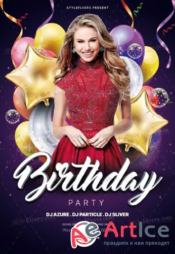 Birthday V34 2018 PSD Flyer Template