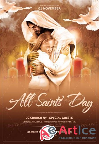 All Saints' Day V1 2018 PSD Flyer Template