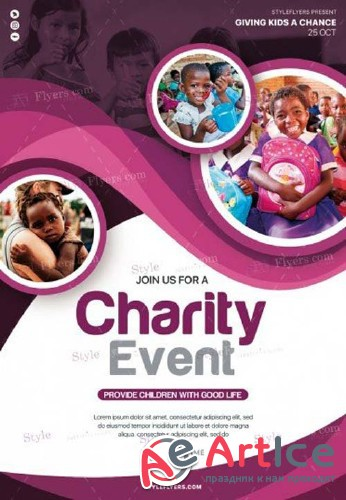 Charity Event V11 2018 PSD Flyer Template