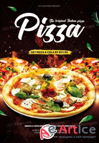 Pizza V15 2018 PSD Flyer Template
