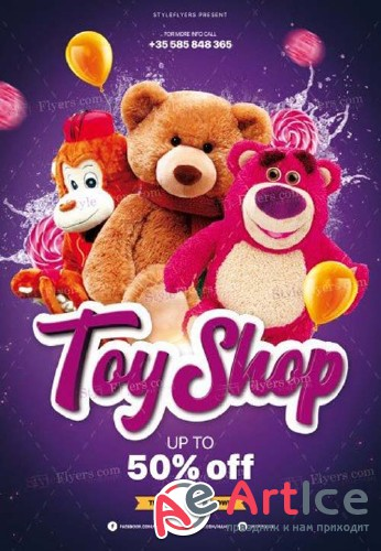 Toy Shop V6 2018 PSD Flyer Template
