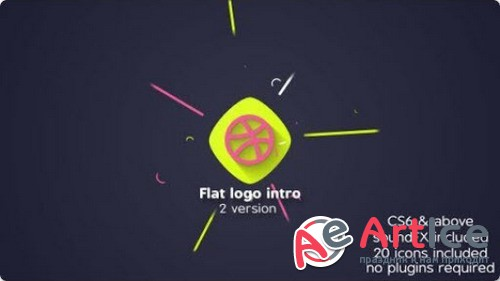 Flat logo intro 20655869 - Project for After Effects (Videohive)
