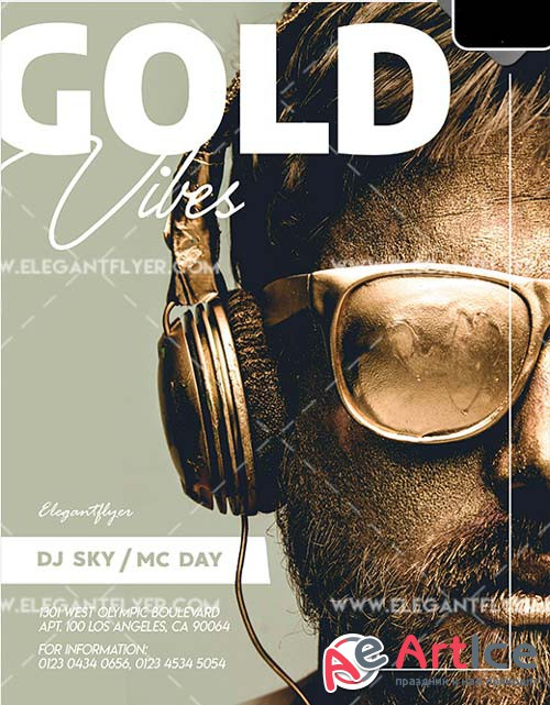 Golden Vibes V1 2018 PSD Flyer