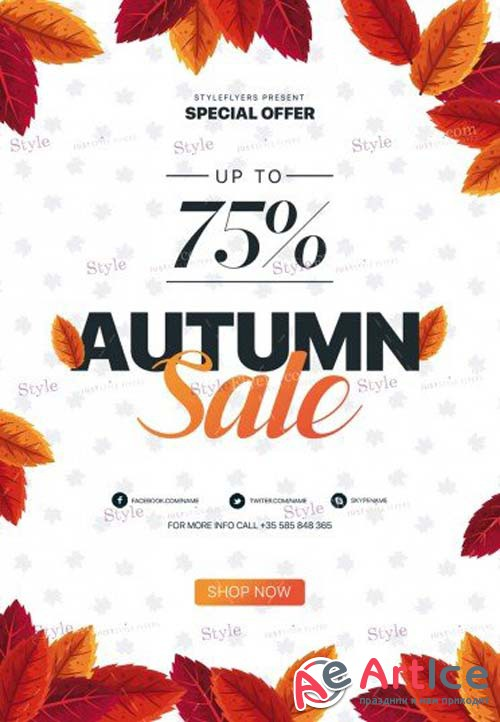 Autumn Sale V12 2018 PSD Flyer Template