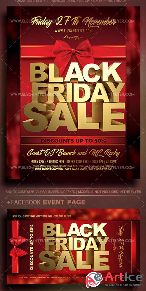 Black Friday Sale V42 2018 Flyer PSD Template