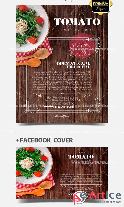 Restaurant Flyer V17 2018 PSD Template