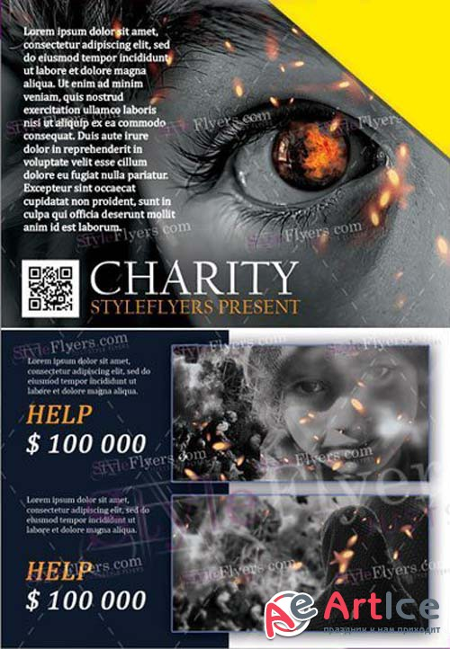 Charity V11 2018 PSD Flyer Template