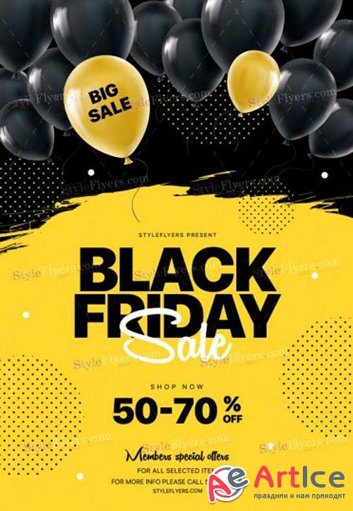 Black Friday V44 2018 PSD Flyer Template