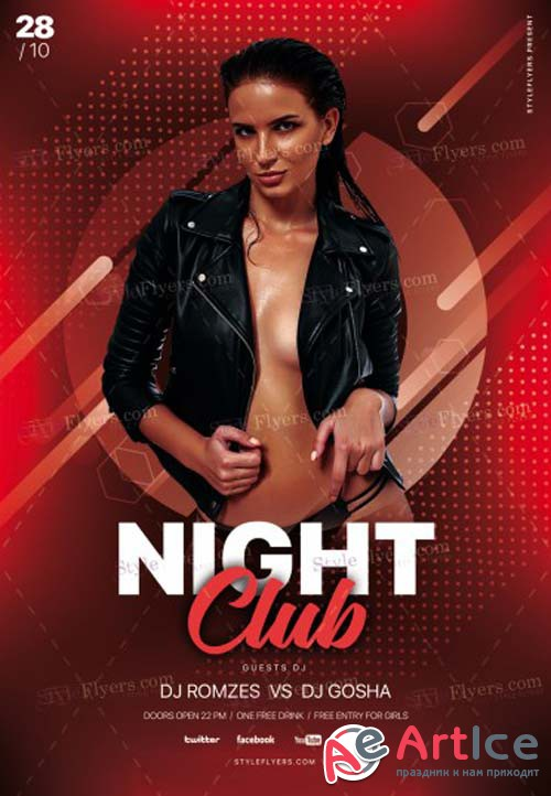 Night Club V37 2018 PSD Flyer Template