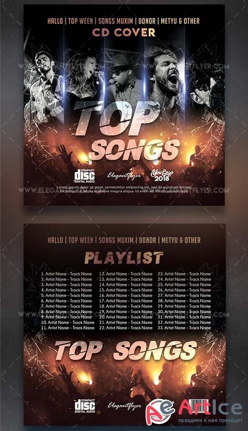 Top Songs V7 2018 CD Cover Template