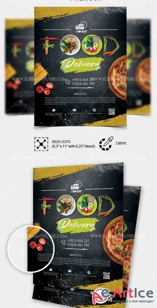 Food Delivery V7 2018 PSD Flyer Template