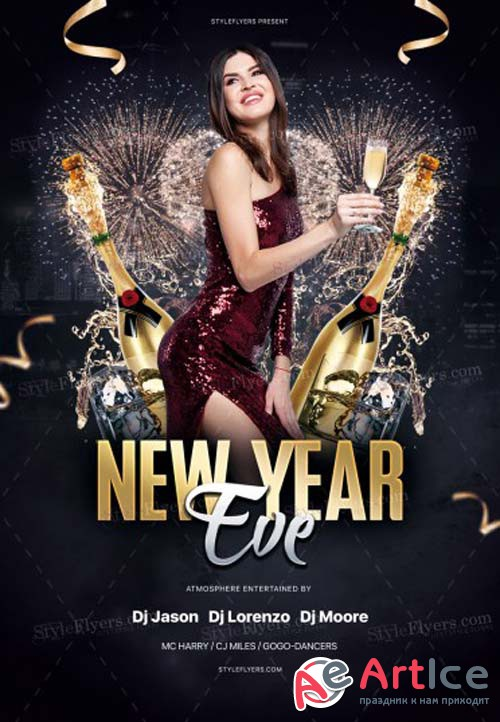 New Year Eve V51 2018 PSD Flyer Template