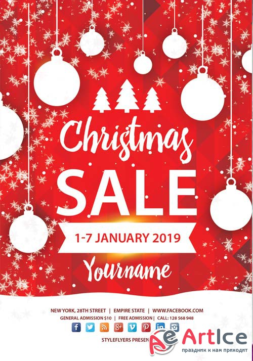 Christmas Sale V64 2018 PSD Flyer Template