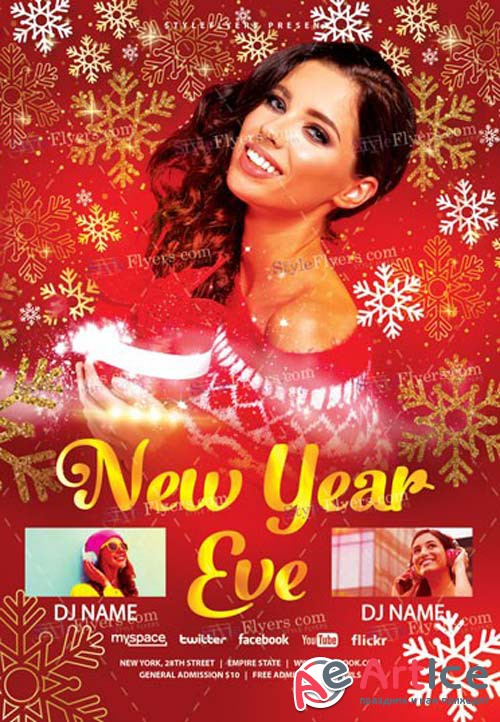 New Year Eve V81 2018 PSD Flyer Template