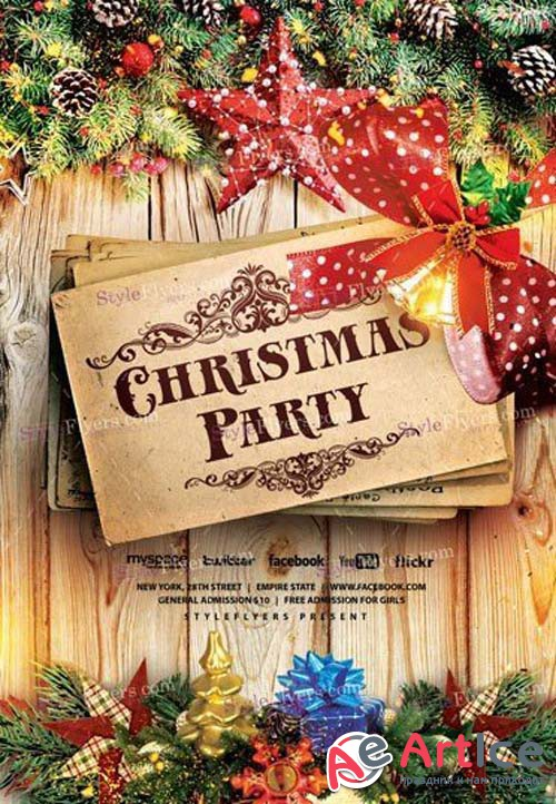 Christmas V75 2018 Flyer PSD Template