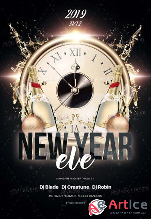 New Year Eve V71 2018 PSD Flyer Template