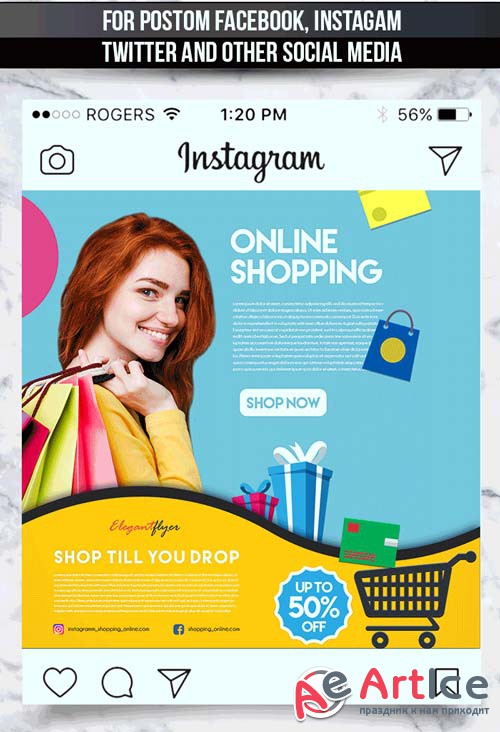 Animated Online Store V1 2018 Template