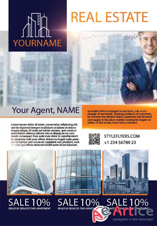 Real Estate V78 2018 PSD Flyer Template