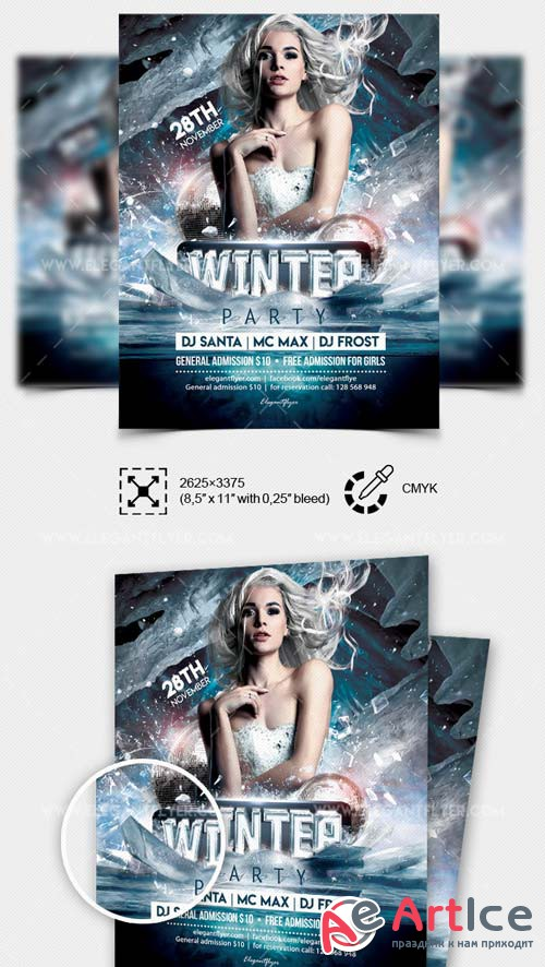 Winter Party V11 2018 Flyer PSD Template