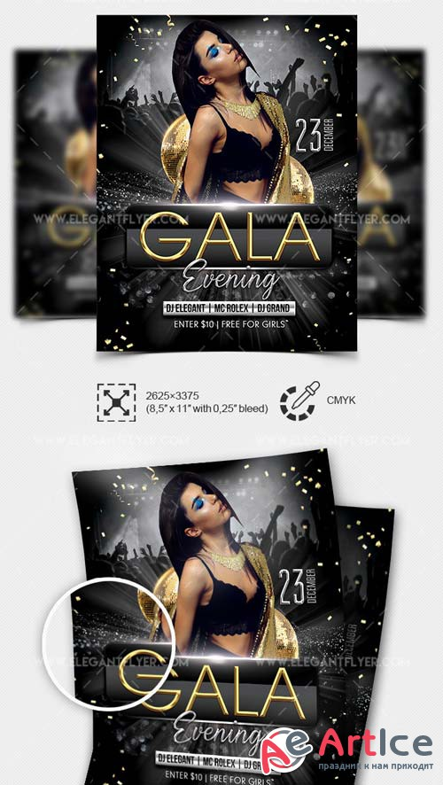 Gala Evening Party V7 2018 PSD Flyer Template