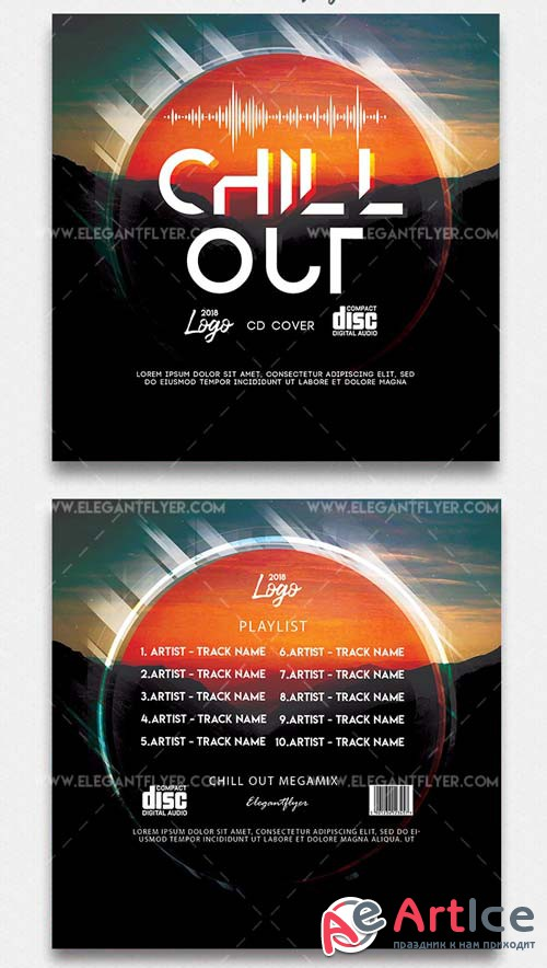 Chill Out V1 2019 CD Cover PSD Template