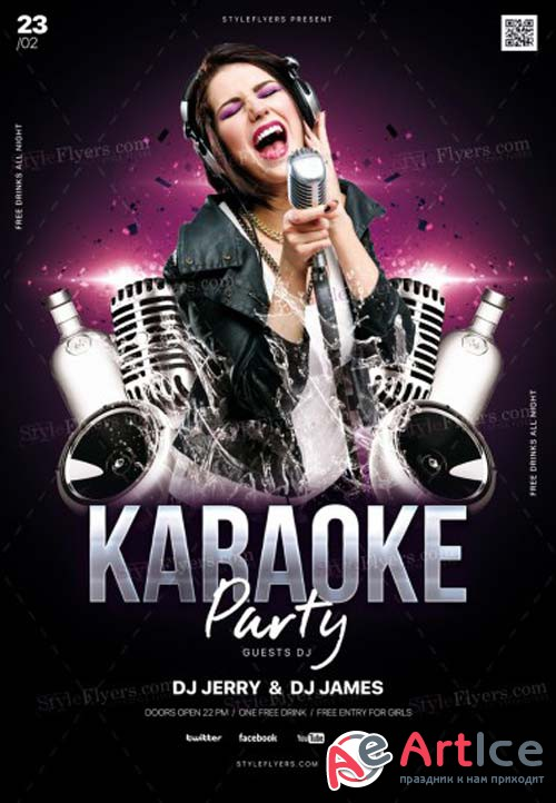 Karaoke Party V1 2019 PSD Flyer Template