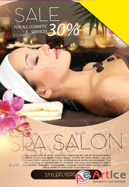 Spa Salon V1 2019 Flyer PSD