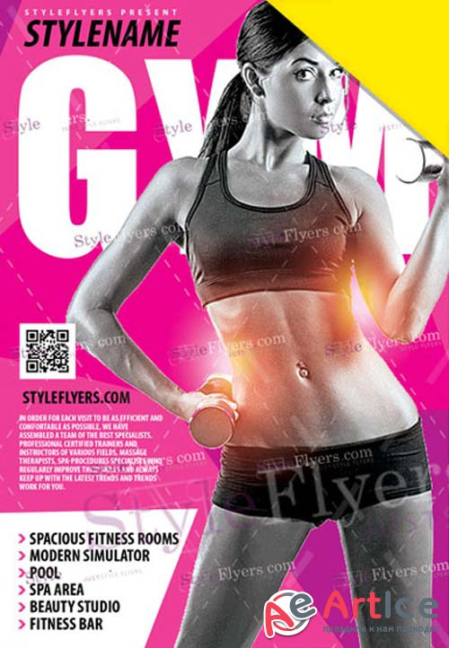 GYM V1 2019 PSD Flyer Template